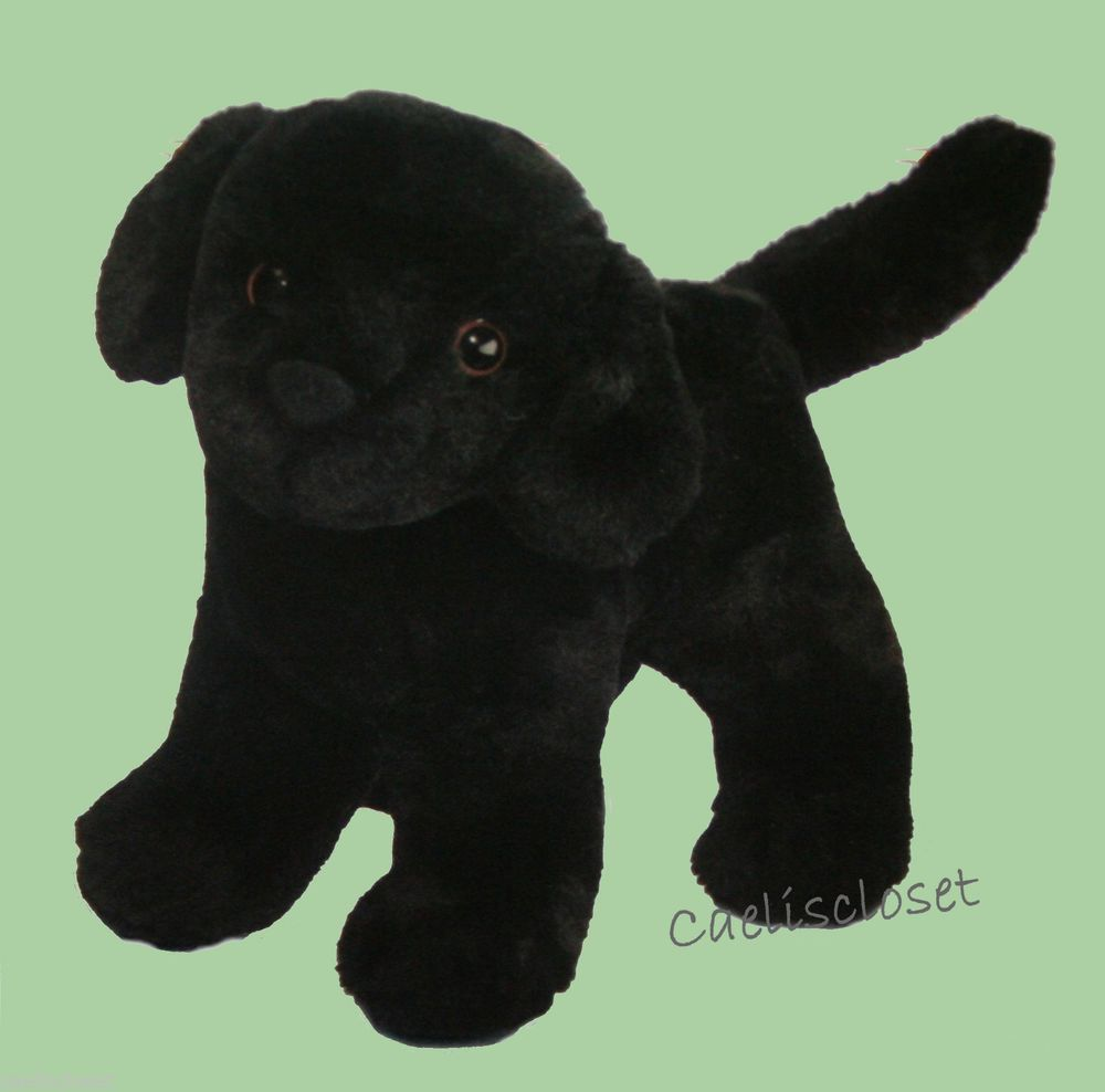 Douglas Plush Abraham BLACK LABRADOR Lab Retriever Dog Stuffed Cuddle Toy NEW #DouglasCuddleToy