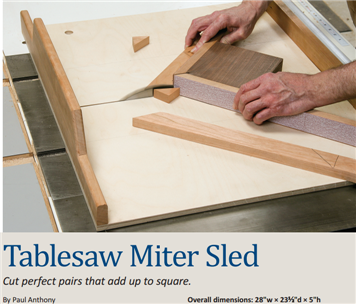 Tablesaw Miter Sled