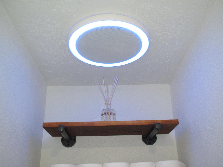 Bathroom Fan W Bluetooth Speaker Light And Blue Nightlight