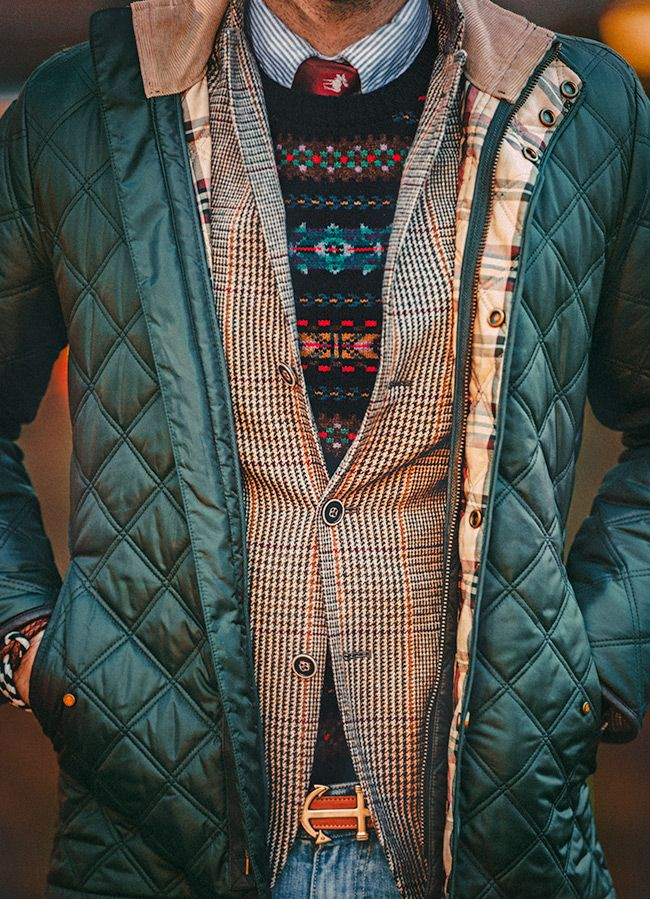 fall layers and brooks brothers' quilted hunter green jacket - watchlisted the hunter jacket