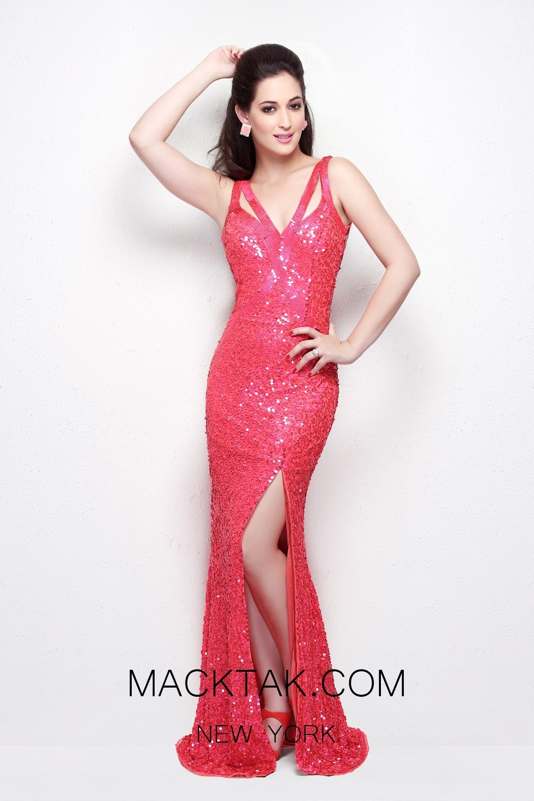 Primavera couture coral dress prom pinterest coral dress
