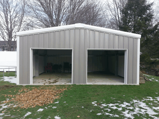 Metal garage steel building garage kit metal steel for Garage building cost