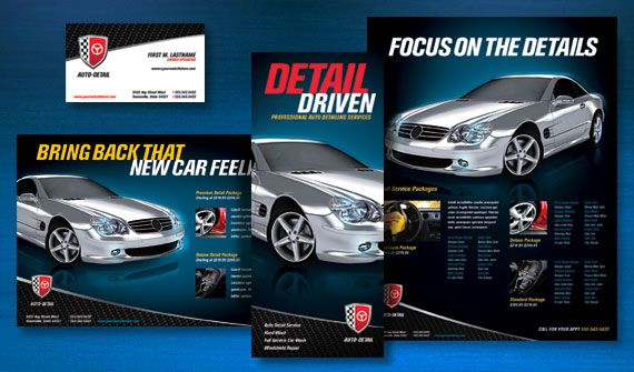 Put a Polish on Your Auto Detailing Business with a Bold Flyer or – Car Wash Flyer Template