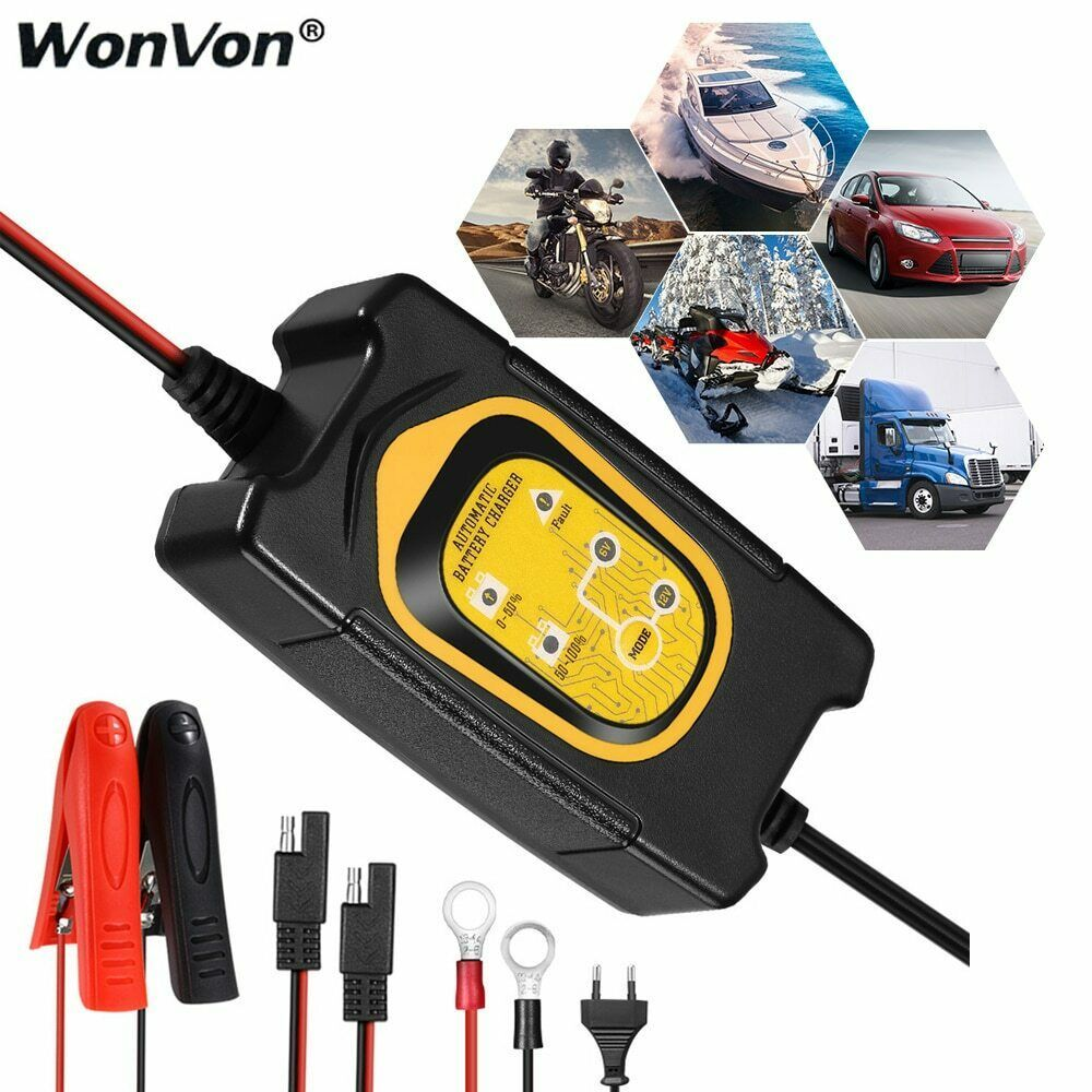 Ebay Advertisement Car Auto Battery Charger Fully Automatic Battery Charger Maintainer 12v 1 5amp Automatic Battery Charger Car Battery Car Battery Hacks