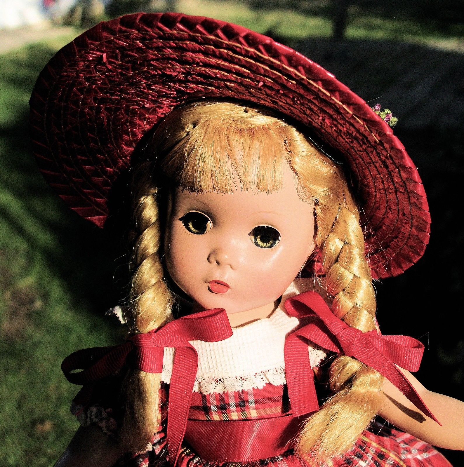 Rare, Vintage Madame Alexander Platinum Hair Polly Pigtails, Hp, 14
