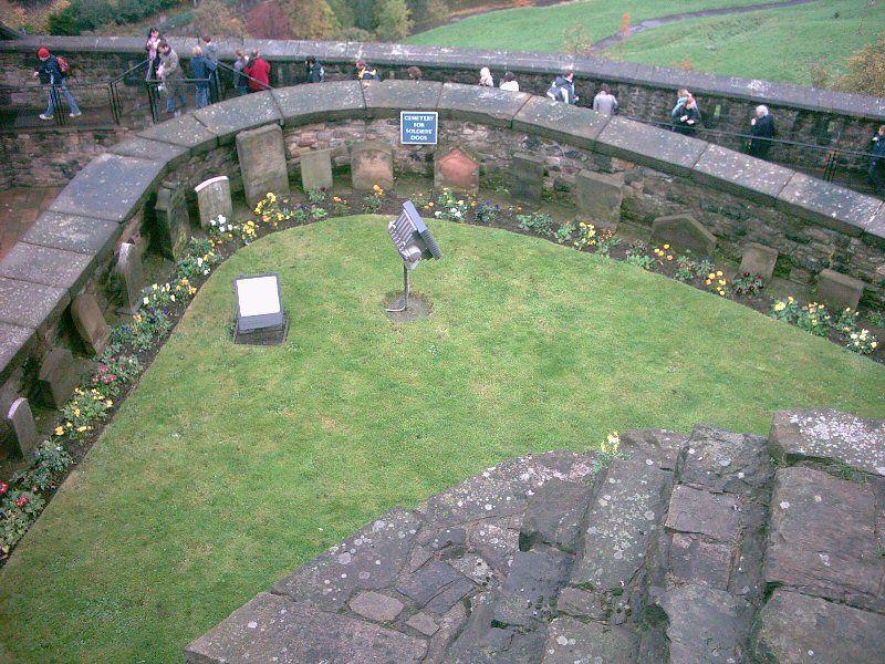 Edinburgh castle dog cemetery edinburgh scotland