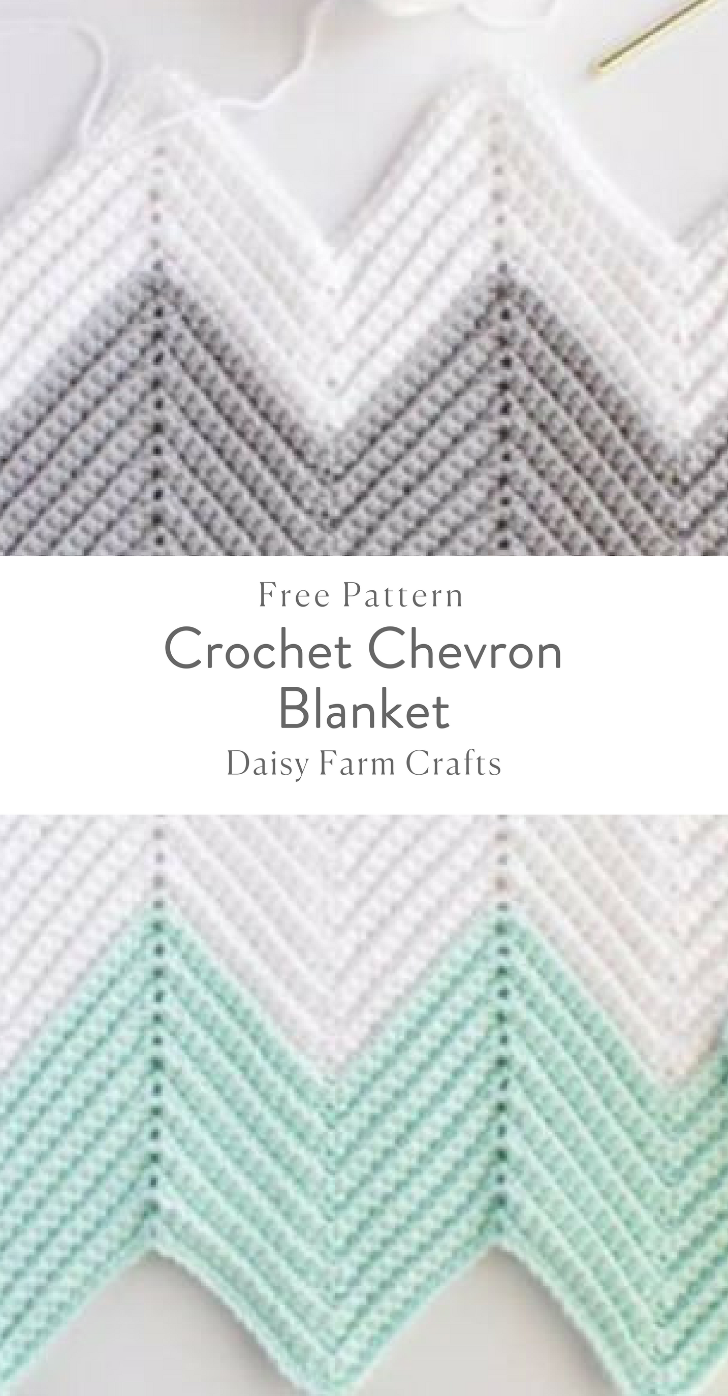 Free Pattern - Crochet Chevron Blanket | Crochet | Pinterest | Manta ...