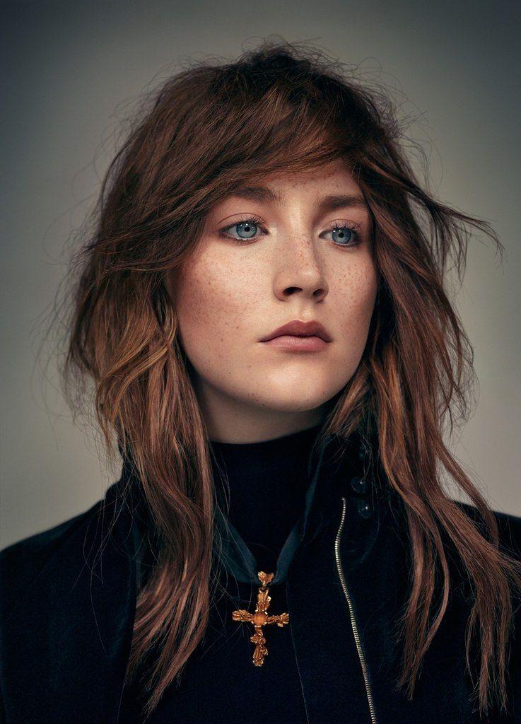 Saoirse Ronan Brown Hair Blue Eyes Red Hair Blue Eyes Red Hair Freckles