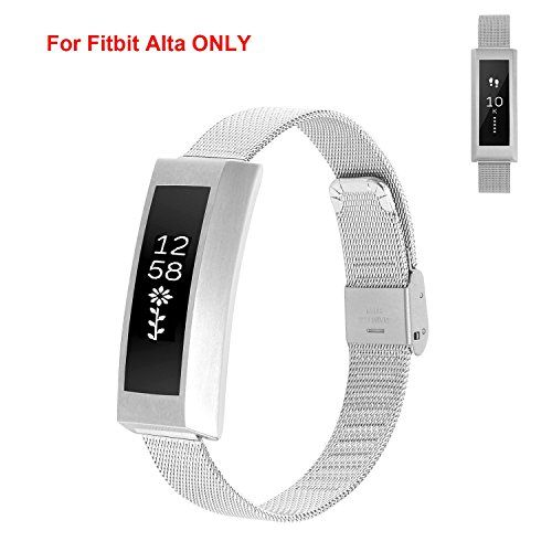 Amazon.com: TreasureMax Newest Generation Premium Stainless Steel Frame  With Mesh Watch Band Replacement Bracelet Strap Adjustable Milanese Wrist  Band With ...
