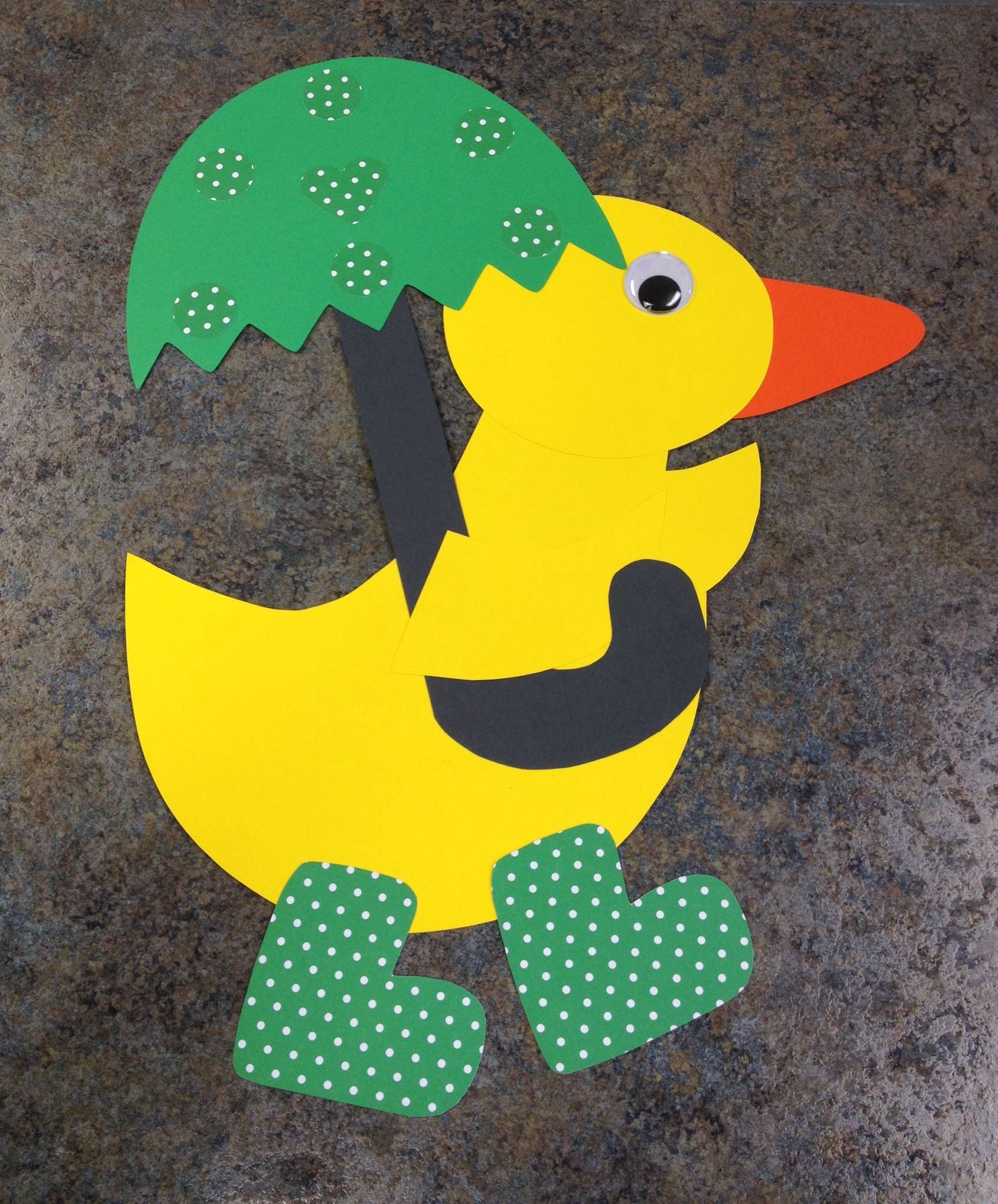 Duck With An Umbrella Toddler Craft