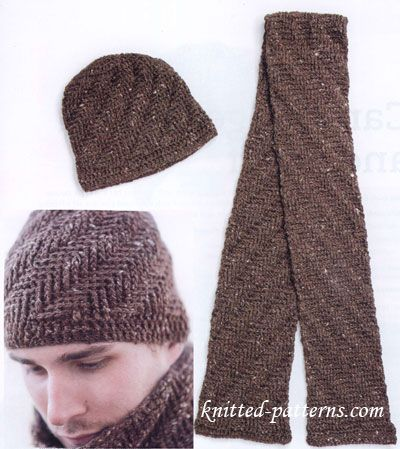 Knitting Patterns For Men s Hats And Scarves : Free crochet mens hat and scarf patterns Crochet ...