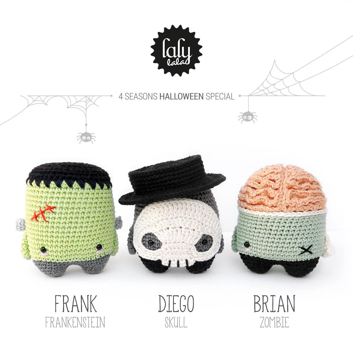 Crochet - 4 Seasons Halloween: Frank, Diego, & Brian (paid patterns ...