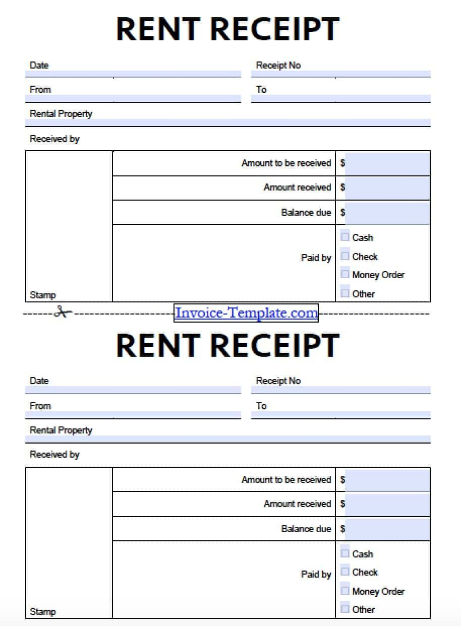 Format For Rent Receipt Bill Lading Samples Free Monthly Landlord