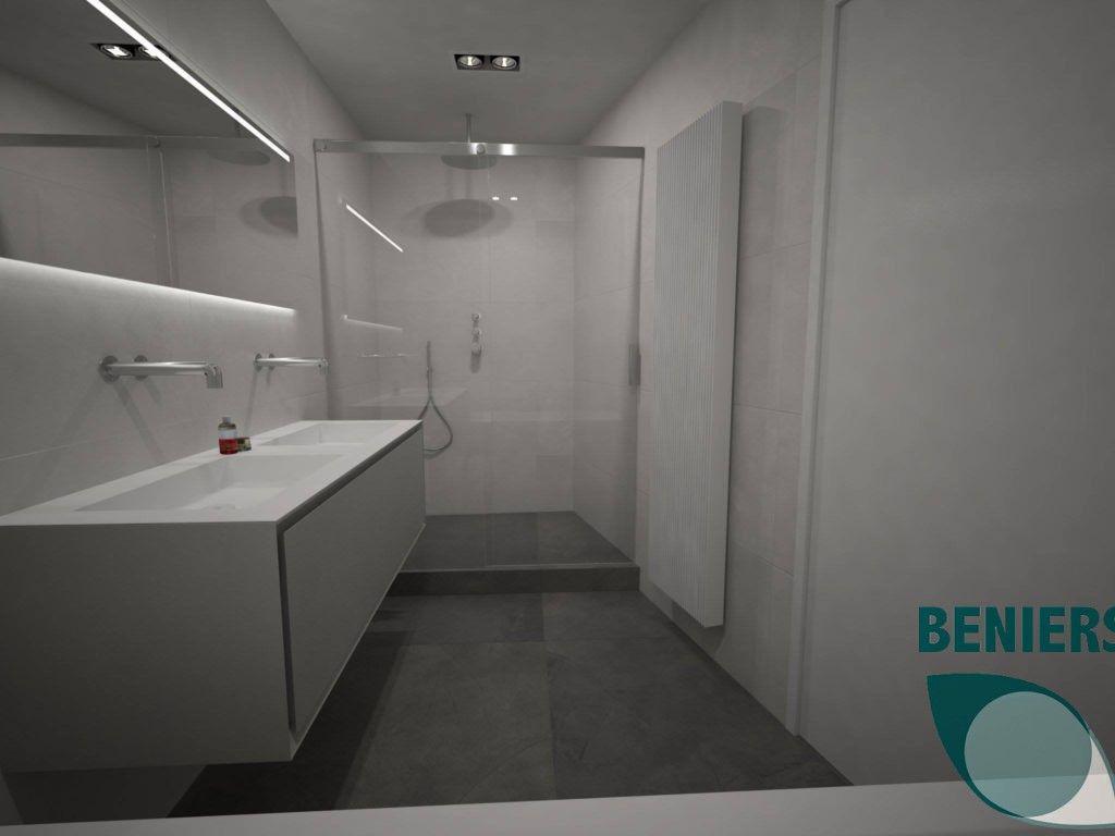 Badkamer ontwerp inspiratie   schuine wand   badkamer ontwerp ...