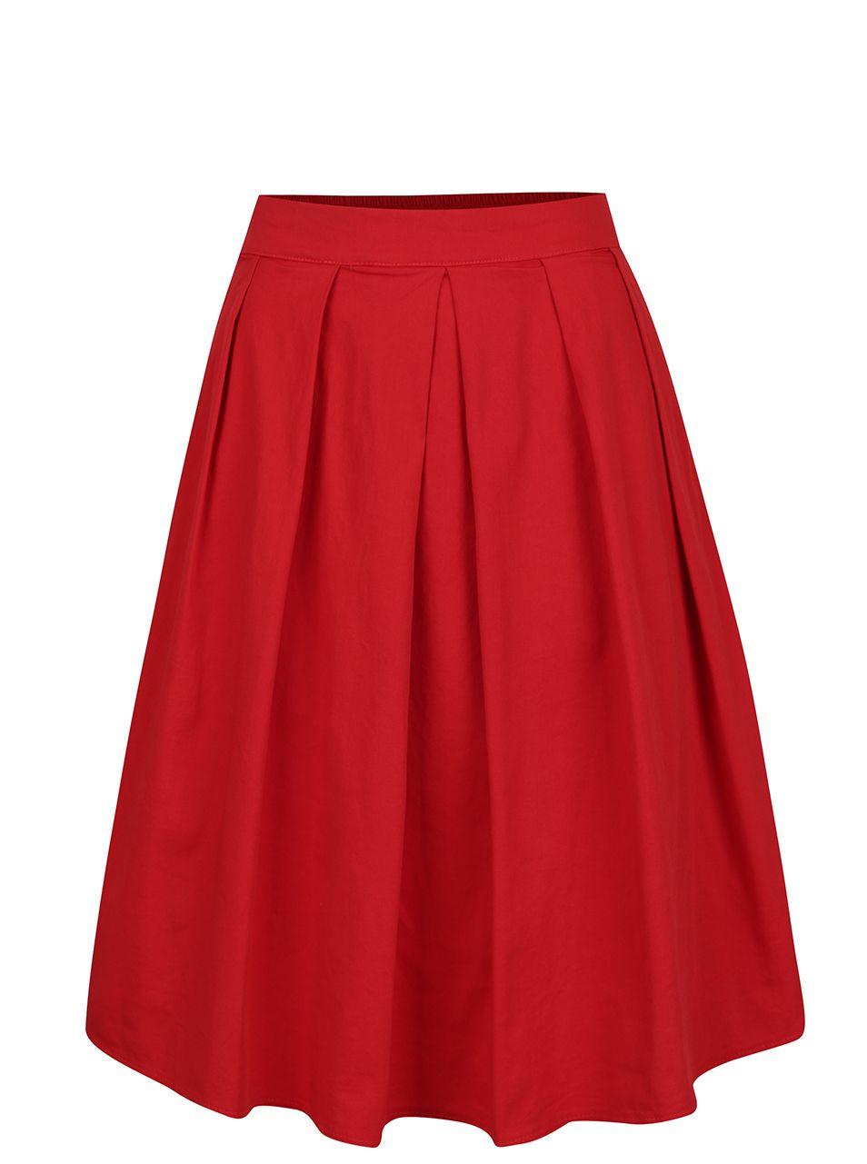 Červená sukně ZOOT  ef8a91eede