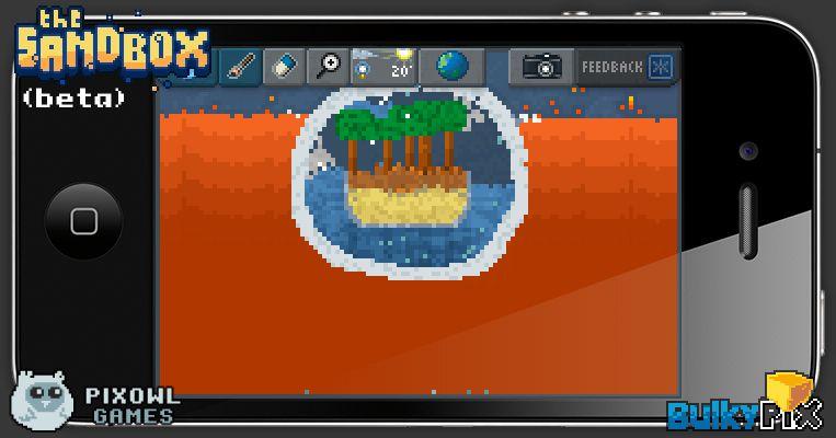 Island lost in lava  #pixelart #sandbox #pixel #art #ios #iphone
