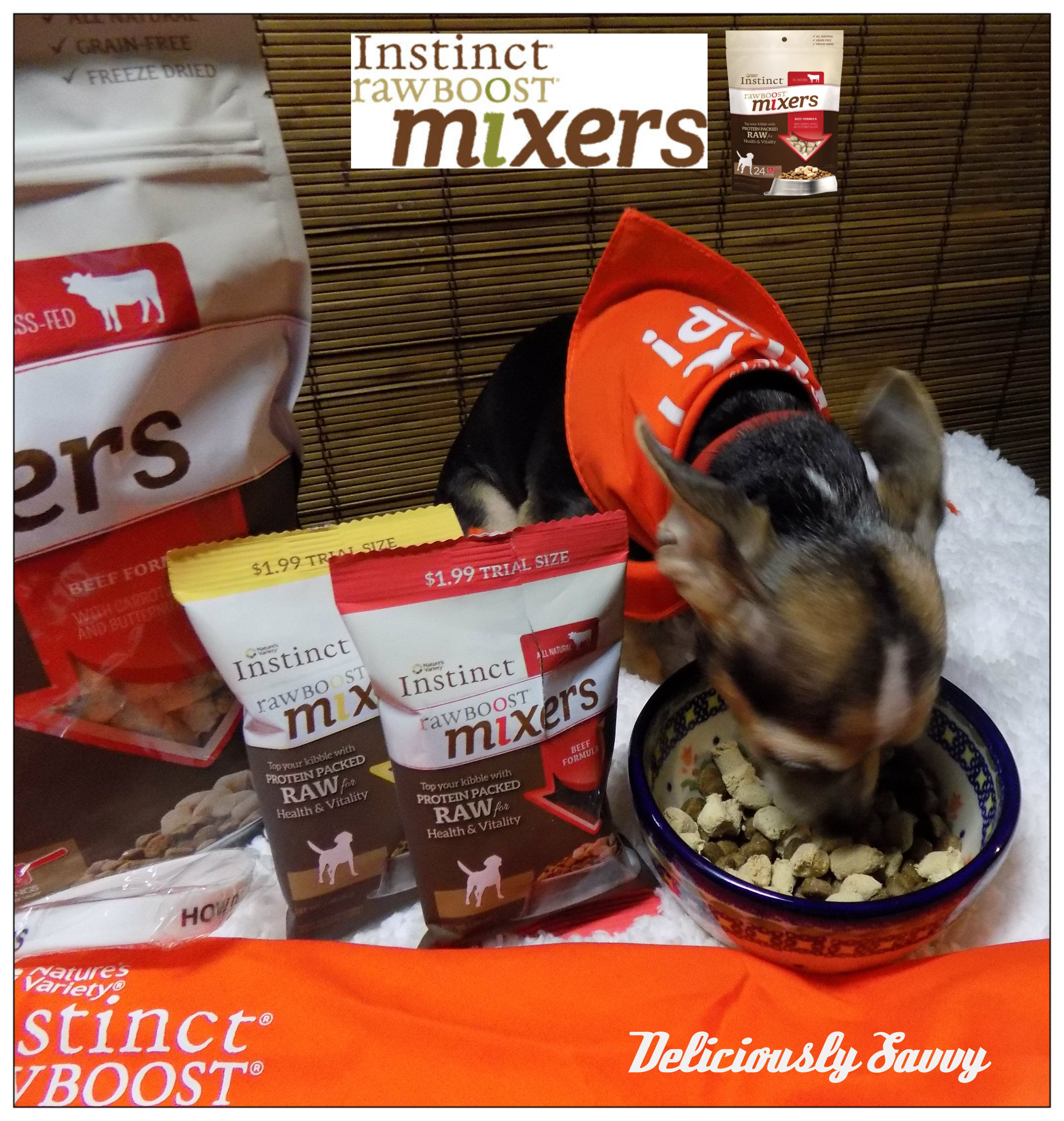 Chewey Is Trying Out Instinct Raw Boost Mixers Available At