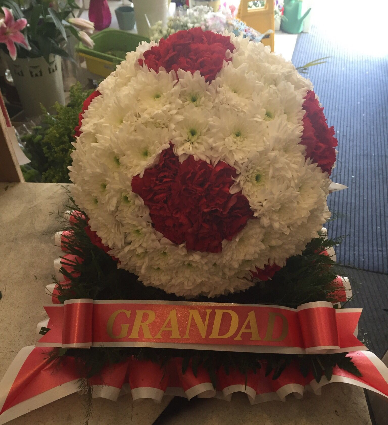 Football funeral tribute funeral flowers pinterest funeral football funeral tribute izmirmasajfo Images