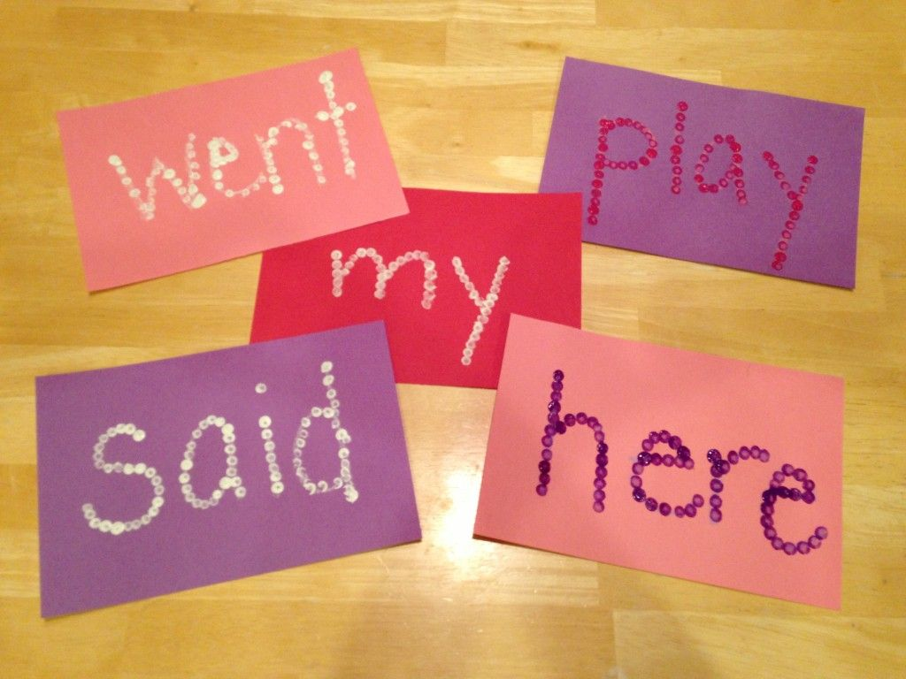 Easy Kindergarten Valentine S Day Sight Words Using Q Tip And Finger Paint