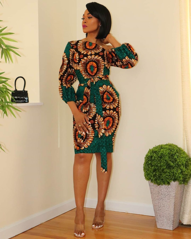 Trendy Ankara Short Dress Styles