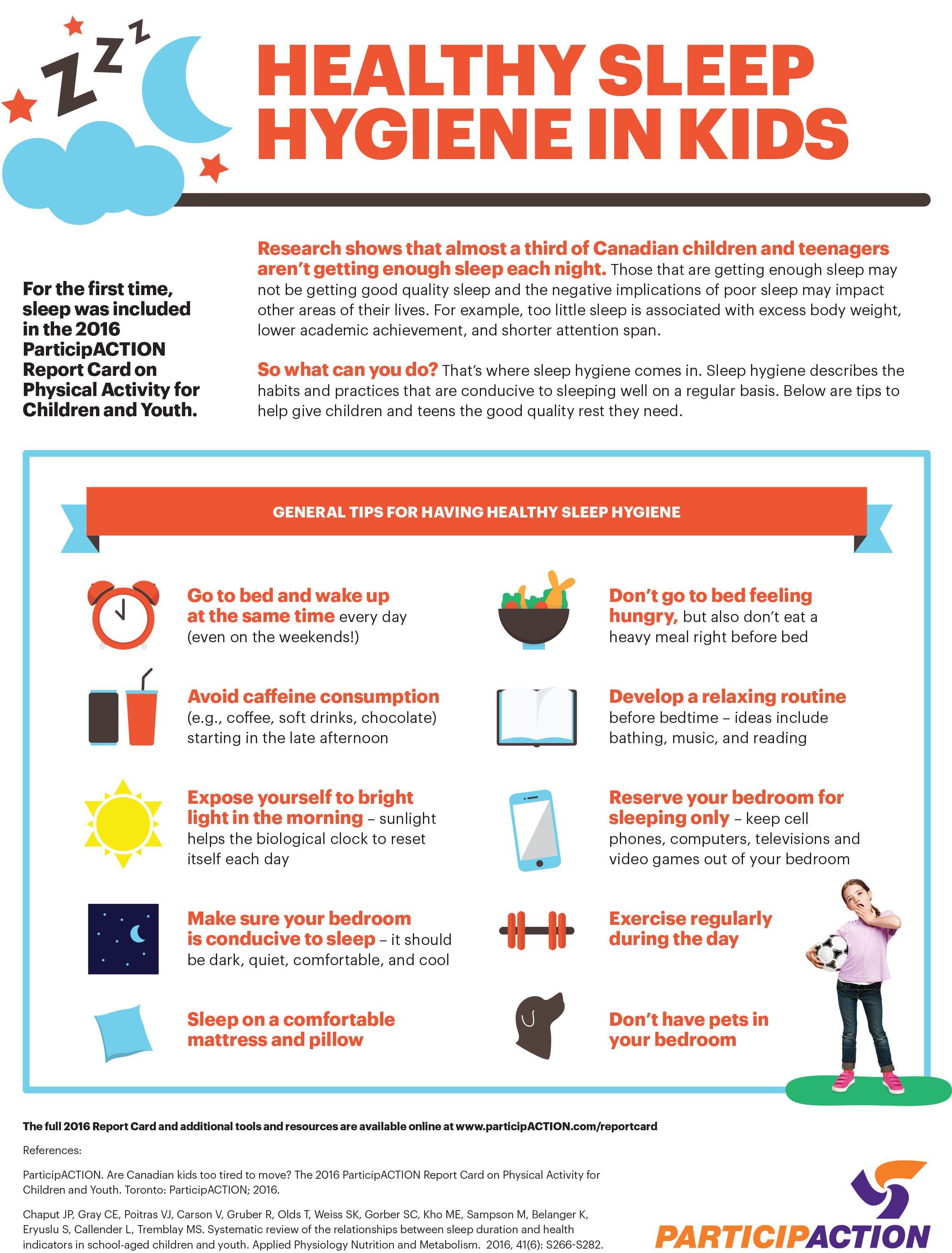 Infographic Healthy Sleep Hygiene In Kids