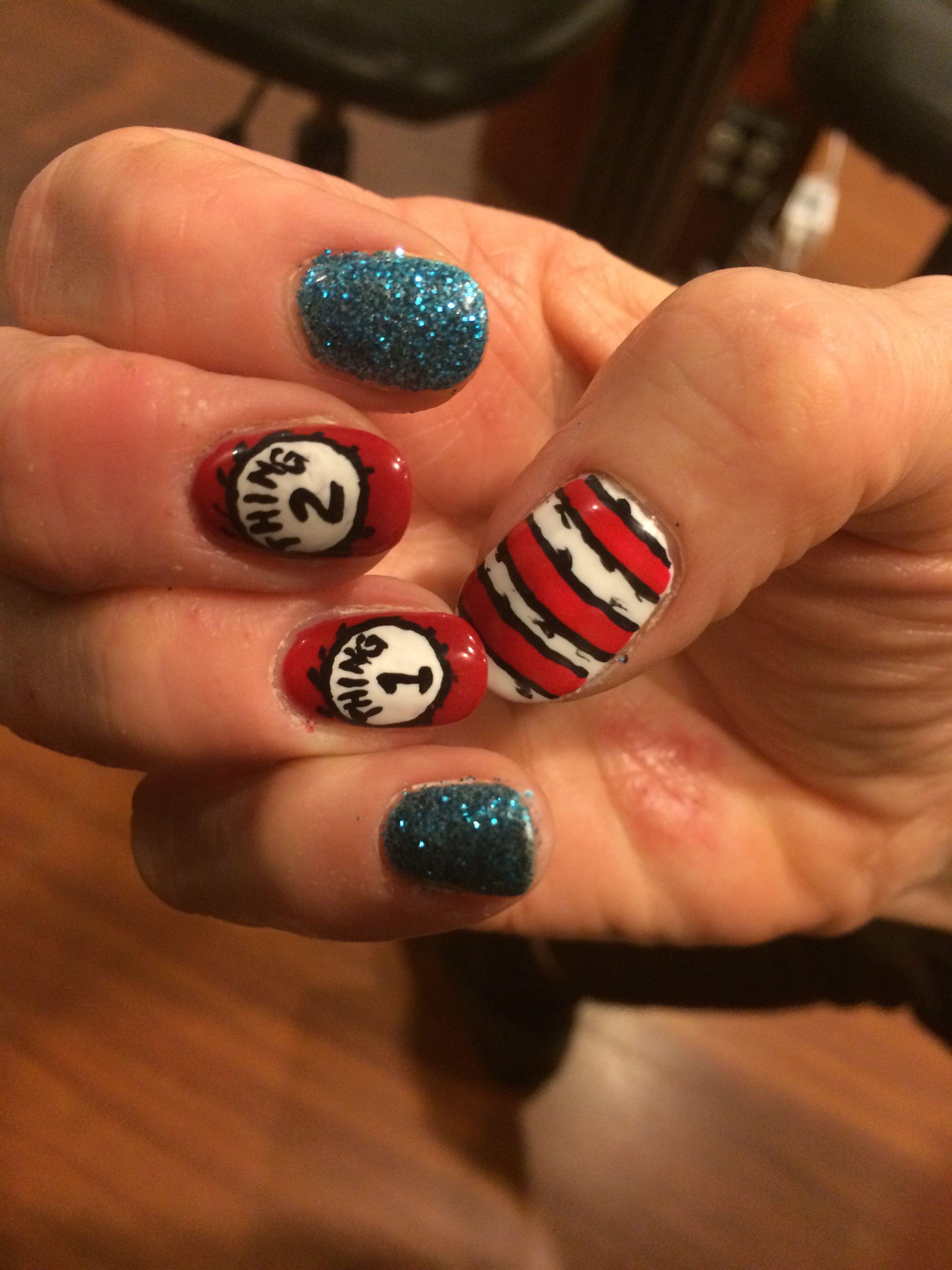 Dr Seuss Nails Nail Ideas Pinterest