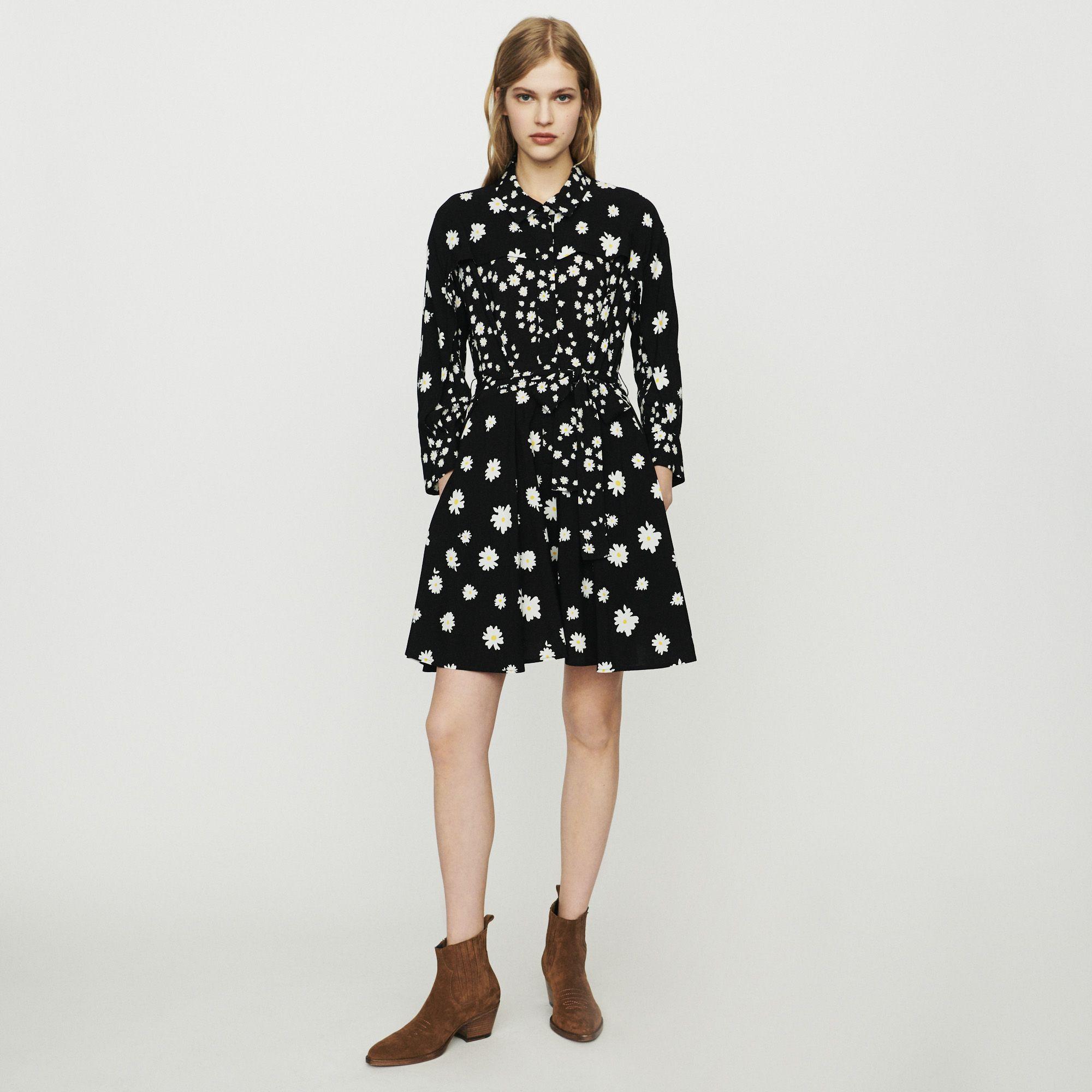 bc25cc3789 RAFI Dress with mixed daisy print - Dresses - Maje.com