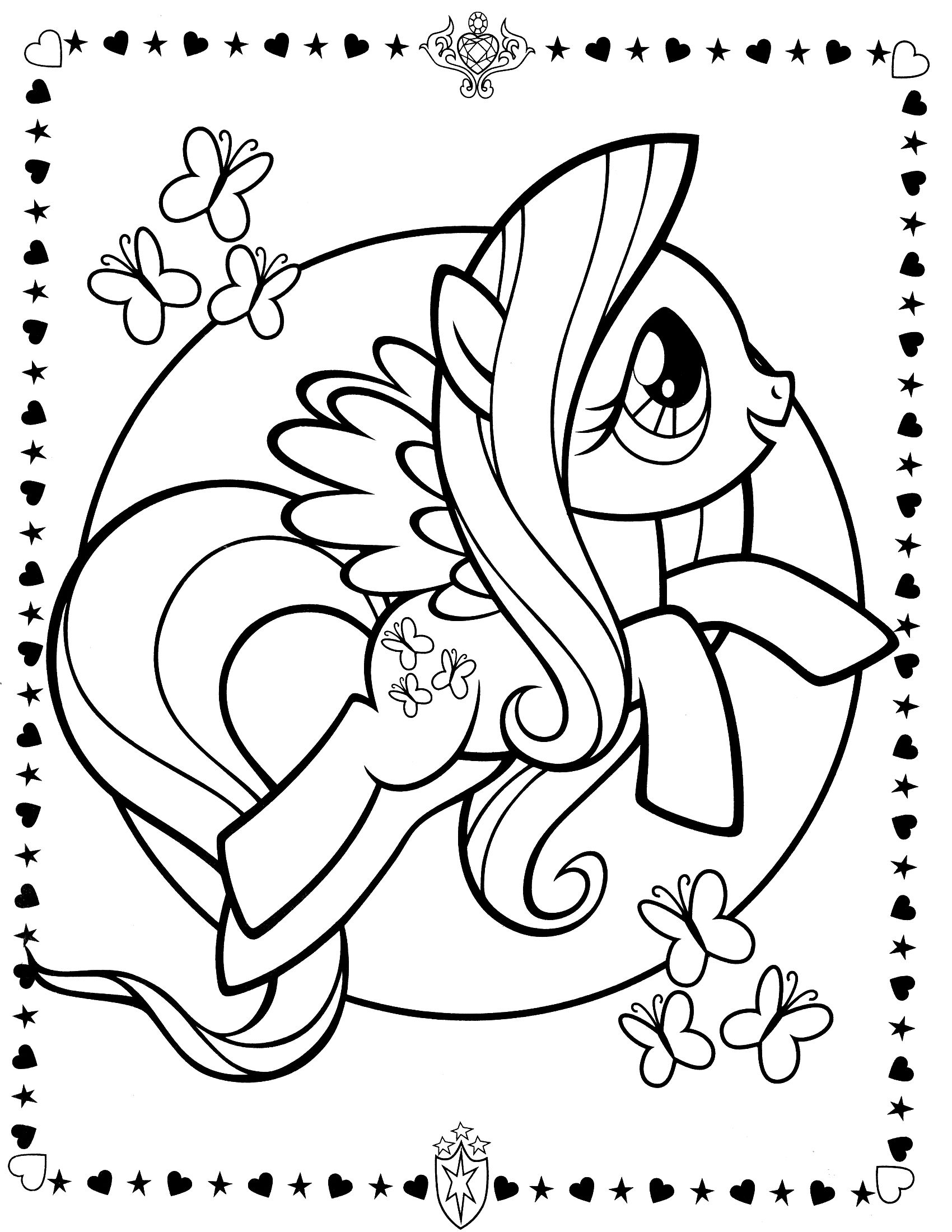 My Little Pony Fluttershy Printable Coloring Pages Images