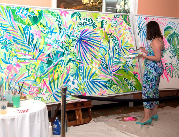 9bc44f19f8d845 Lilly Pulitzer's Beach Bash Palm Beach Celebrated Life Under Printed Palms  While Raising Funds For Loggerhead Marinelife Center