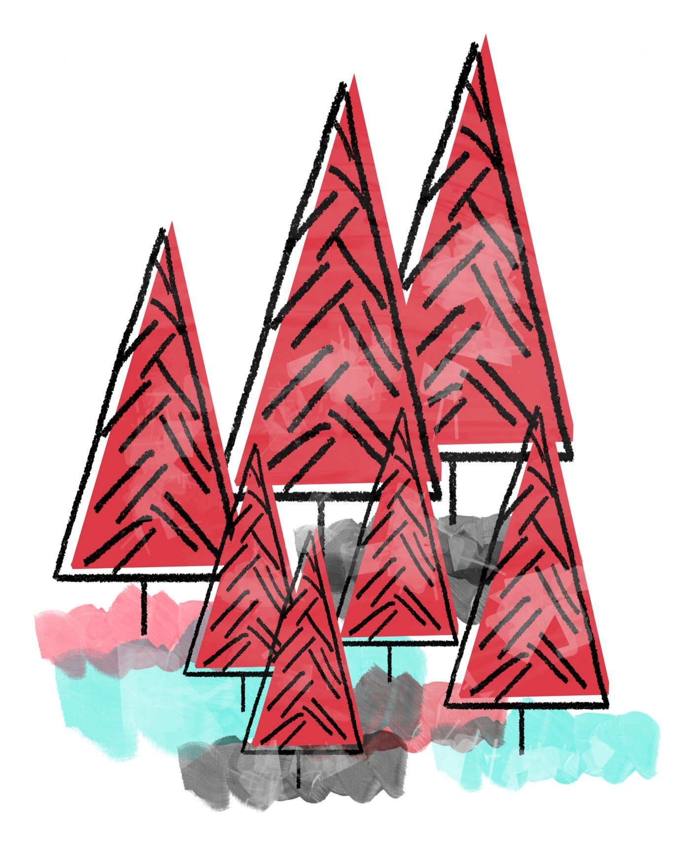 redtreesnuwhite.jpg (1400×1750) | Dibujos | Pinterest | Dibujo
