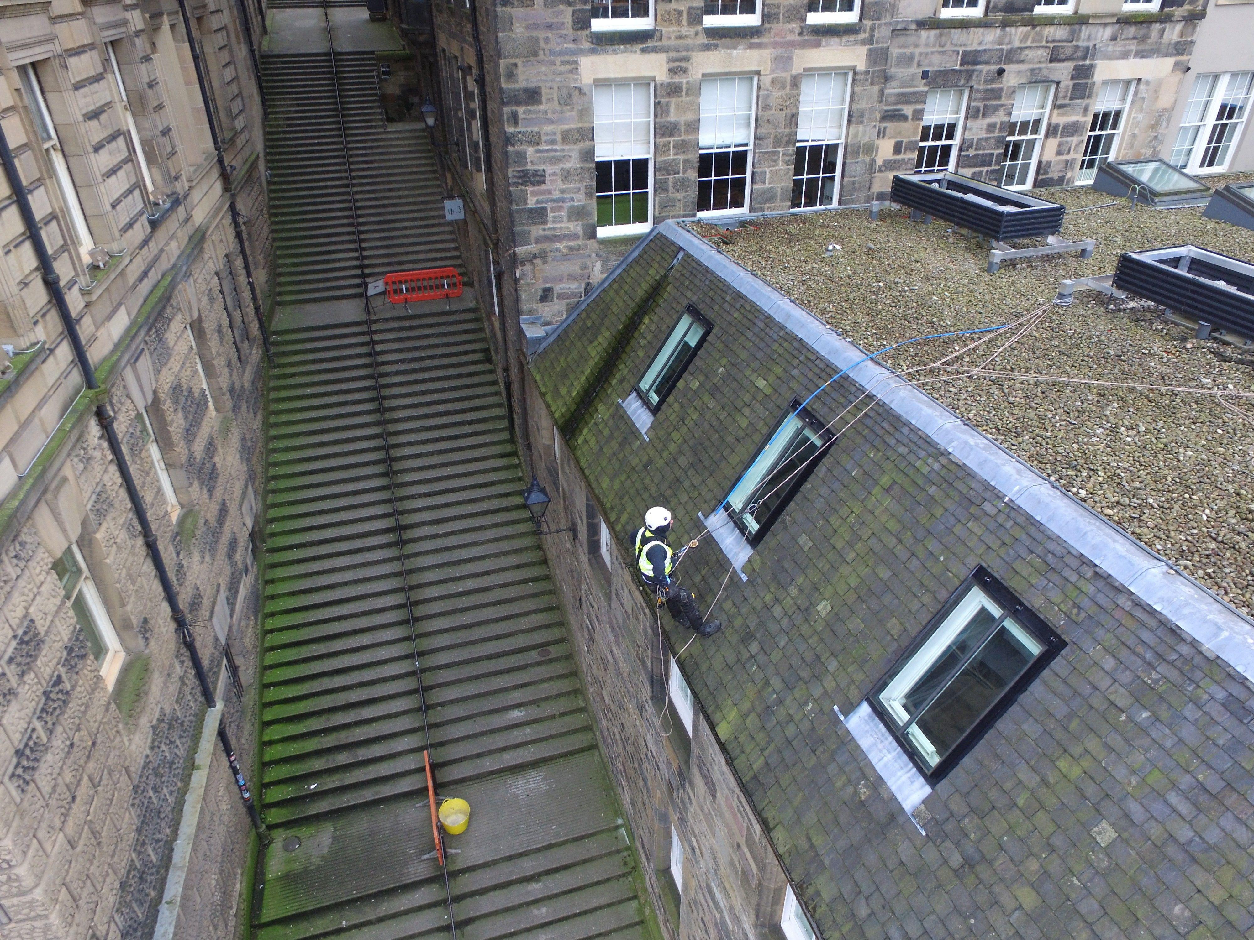 Rope Access Contractors Edinburgh Building Maintenance Roofer Edinburgh