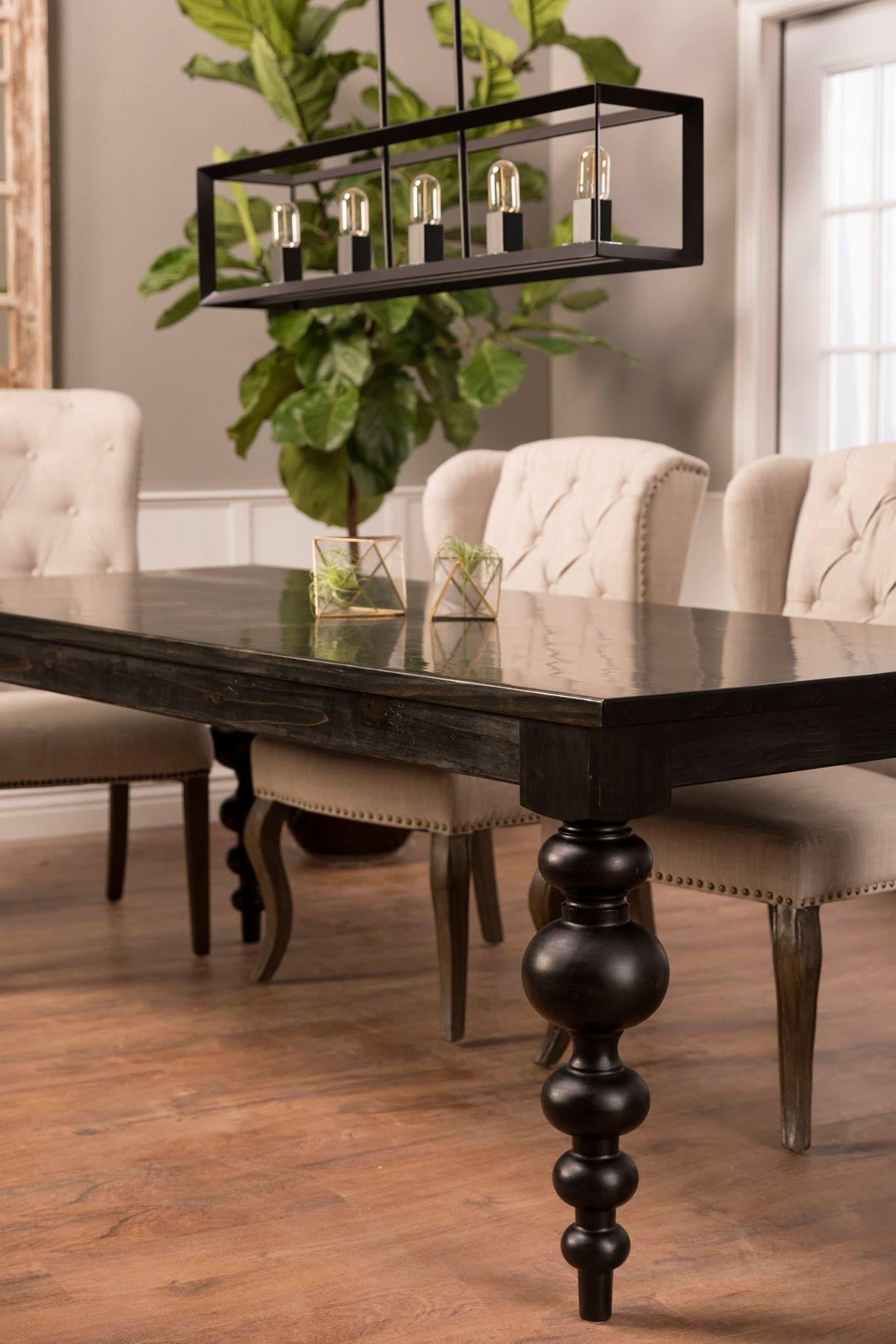 Olivia Turned Leg Table Modern farmhouse dining, Modern