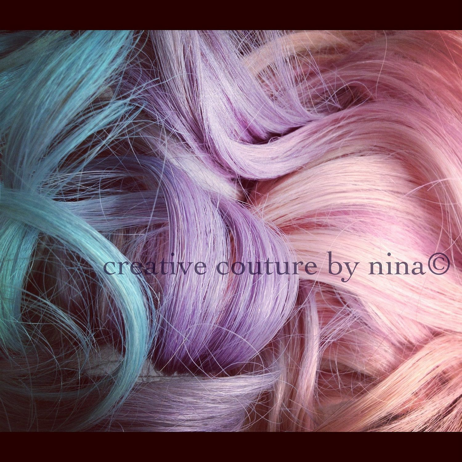 Pastel Hair Extensionspink Purple And Blue Ombrecomplete Set7
