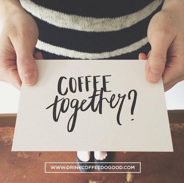 Who will you share #coffeetogether with? drinkcoffeedogood.com/coffeetogether