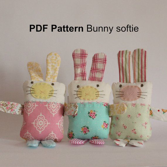 Bunny PDF sewing pattern | Páscoa | Pinterest | Schnuffeltuch ...