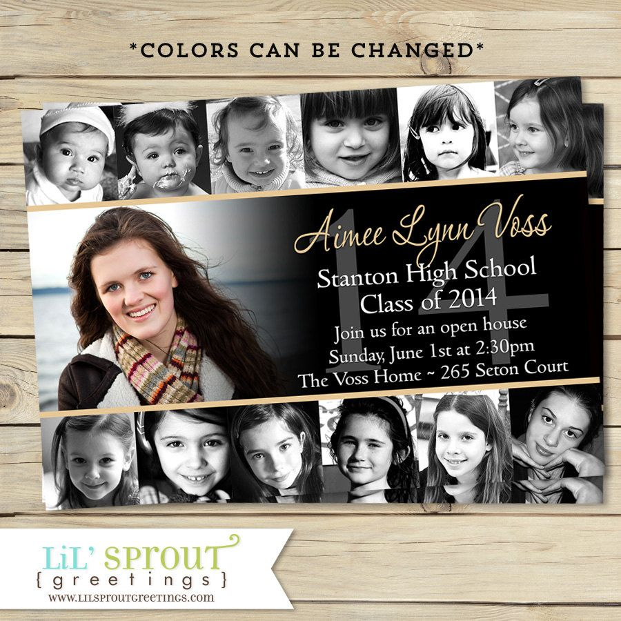 Collage Style Graduation Announcement By Lilsproutgreetings