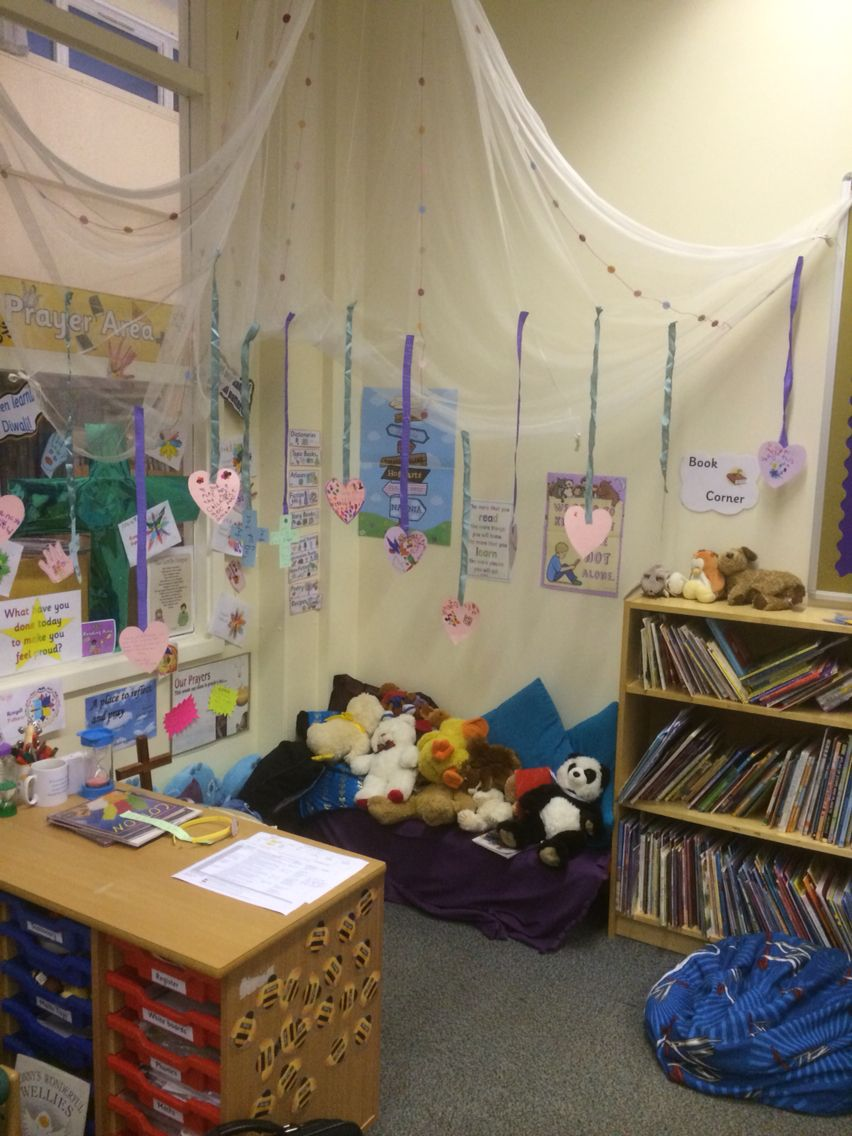 Classroom Worship Ideas : My reading area prayer space in foundation stage prayers