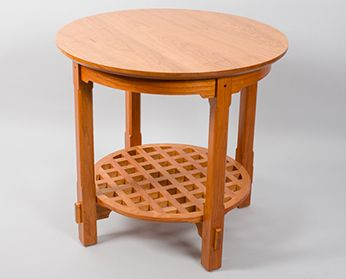 af9356d60a2a Cherry Round Arts   Crafts Table on sale for  900+GST at Woodmonkey Custom  Wood Furniture   Woodworking in Edmonton