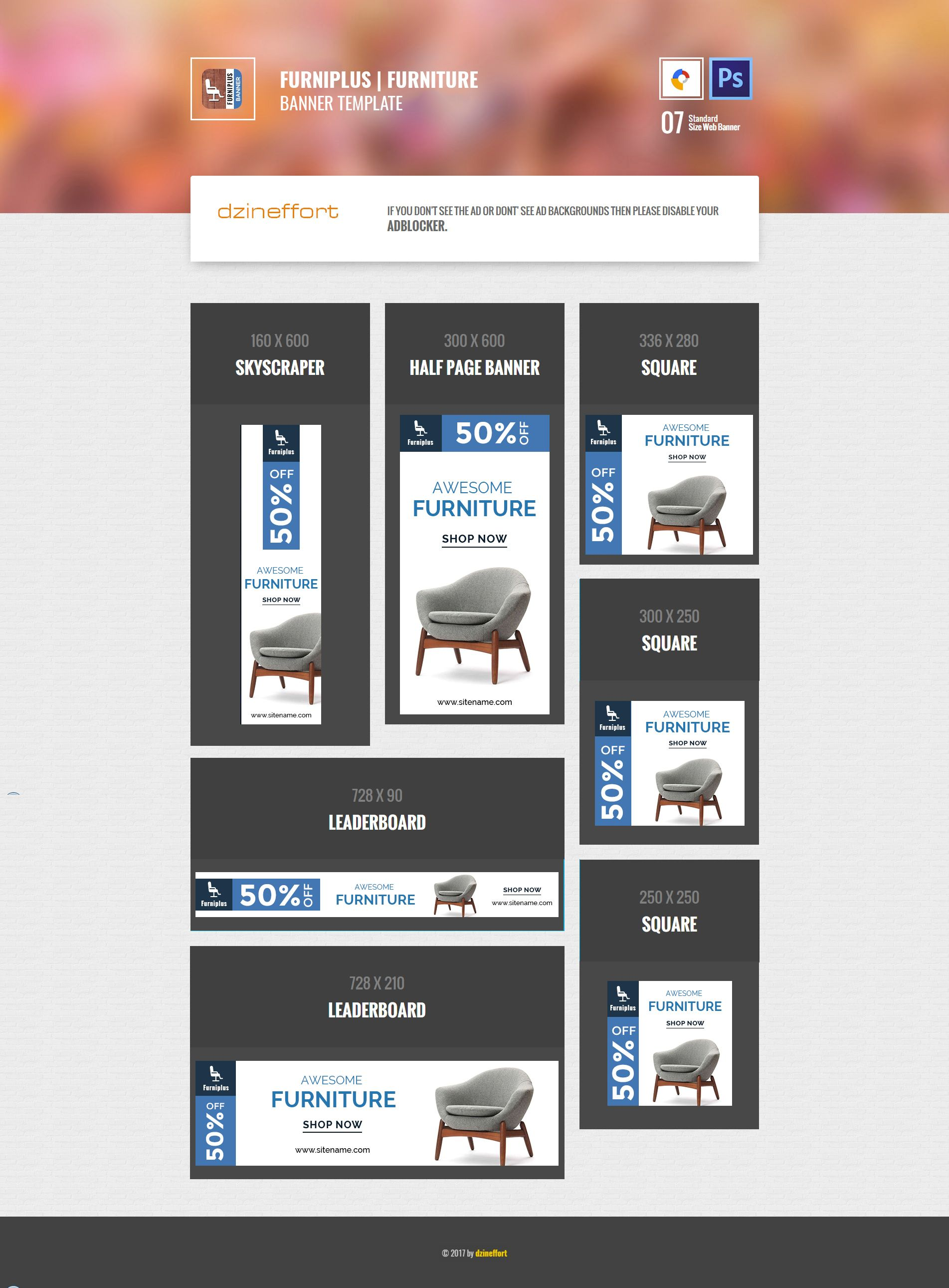 Furniplus | Furniture HTML 5 Animated Google Banner | ad banner ...