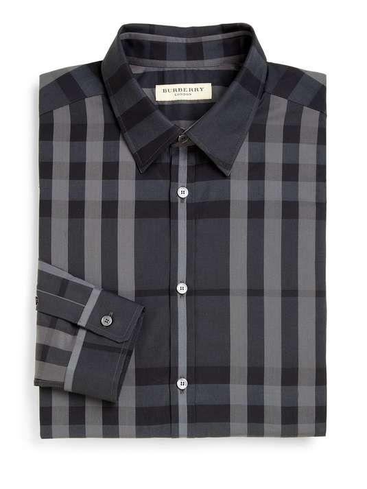 Saks Fifth Avenue   Treyforth Check Shirt   menswear essential checked shirt #saks #checked #shirt