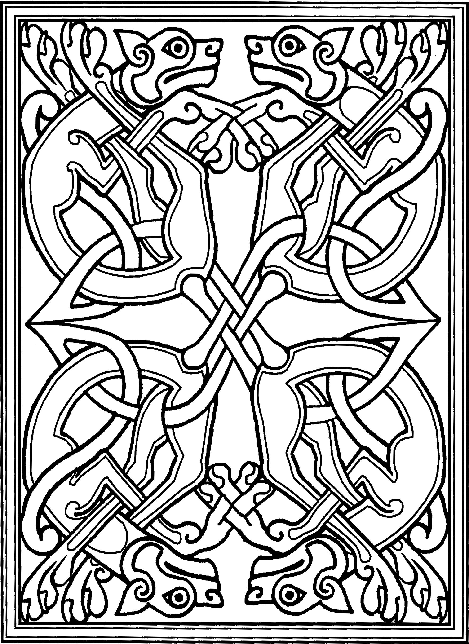 Book Of Kells Coloring Pages Celtic Coloring Celtic Art Celtic