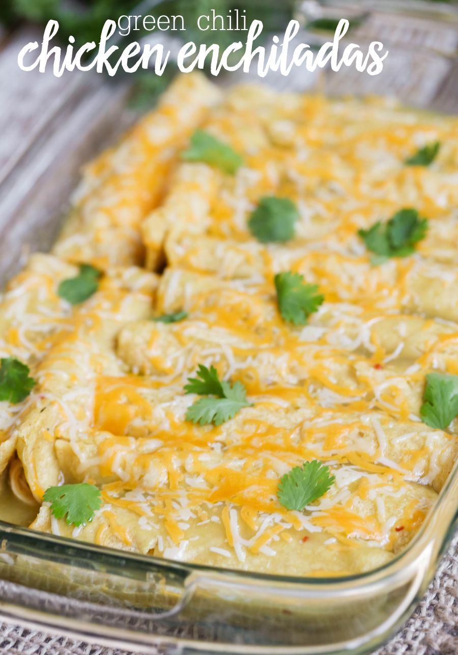 Best Green Chile Chicken Enchiladas Video Lil Luna Recipe Chicken Enchilada Recipe Enchilada Recipes Chicken Enchiladas Easy