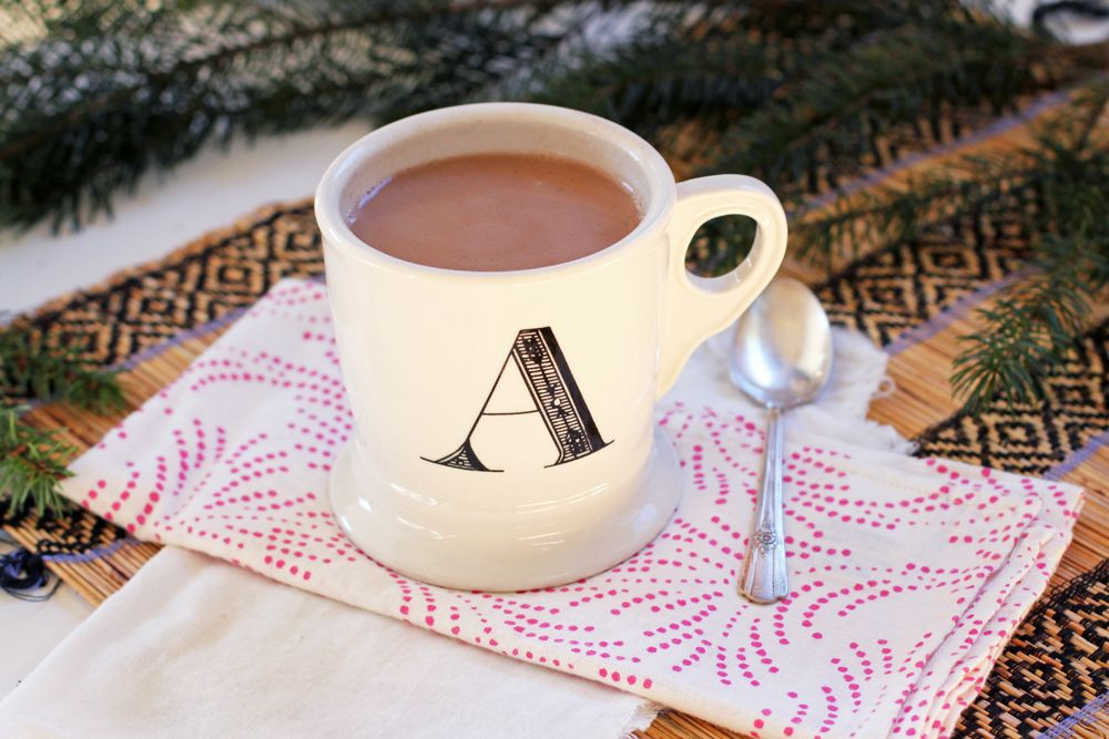 Dairyfree steviasweetened salted hot chocolate hot