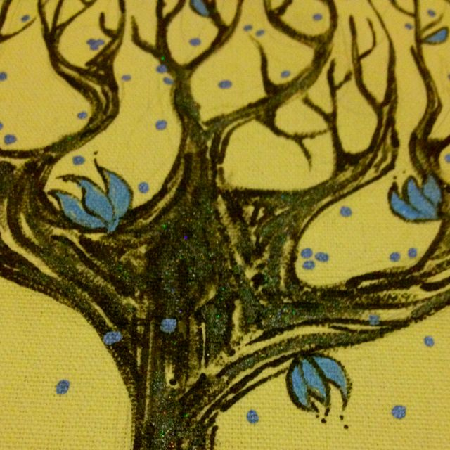 """Wickedly Beautiful Tree """"Crystalized Ginger Designs"""" Custom Canvas Tote!"""