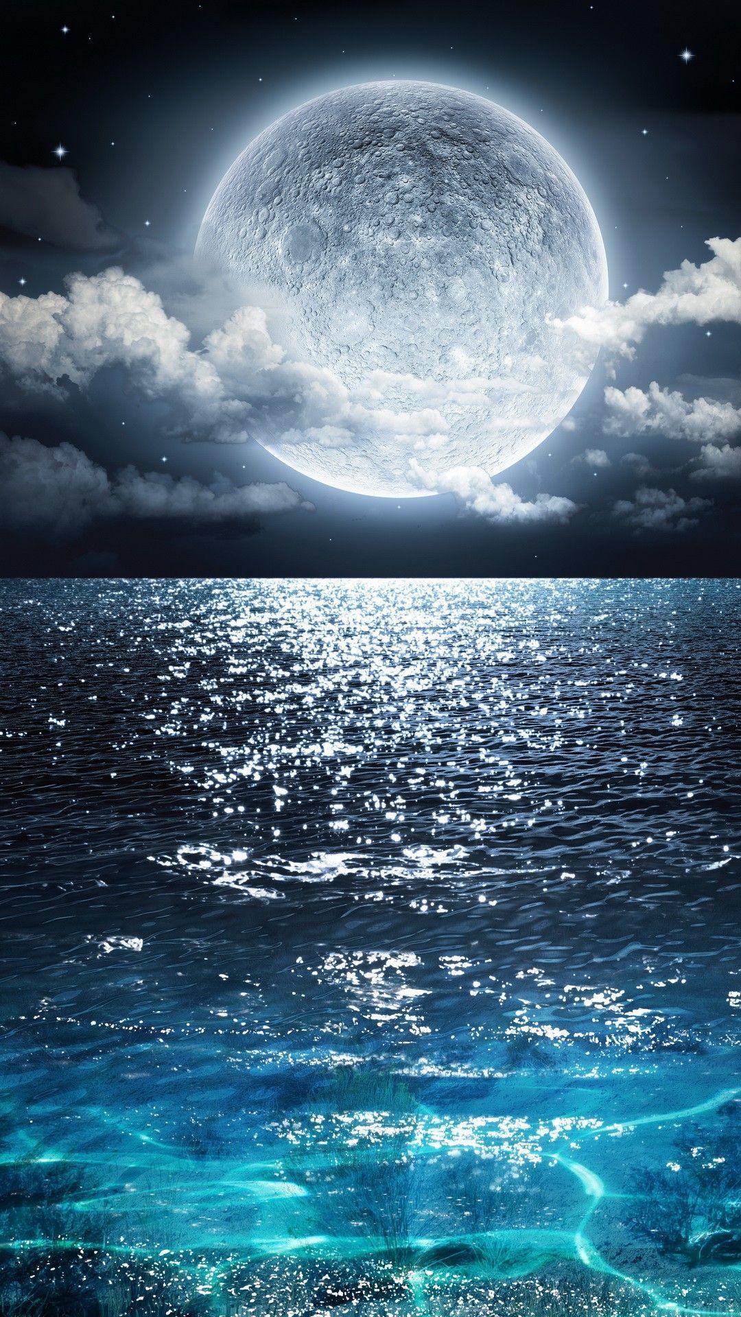 Good Night Nature Beautiful Moon Good Night Nature Goodnight