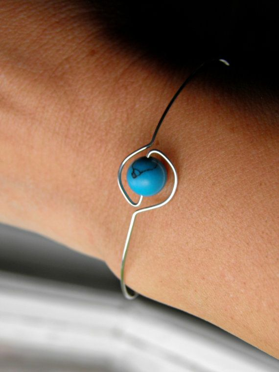 Handmade Wire Wrapped Turquoise Greek Evil Eye by PeggysPassions, $10.00