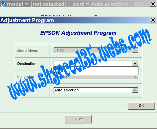 Epson L1300 - L1800 Resetter Reset Epson Service Required