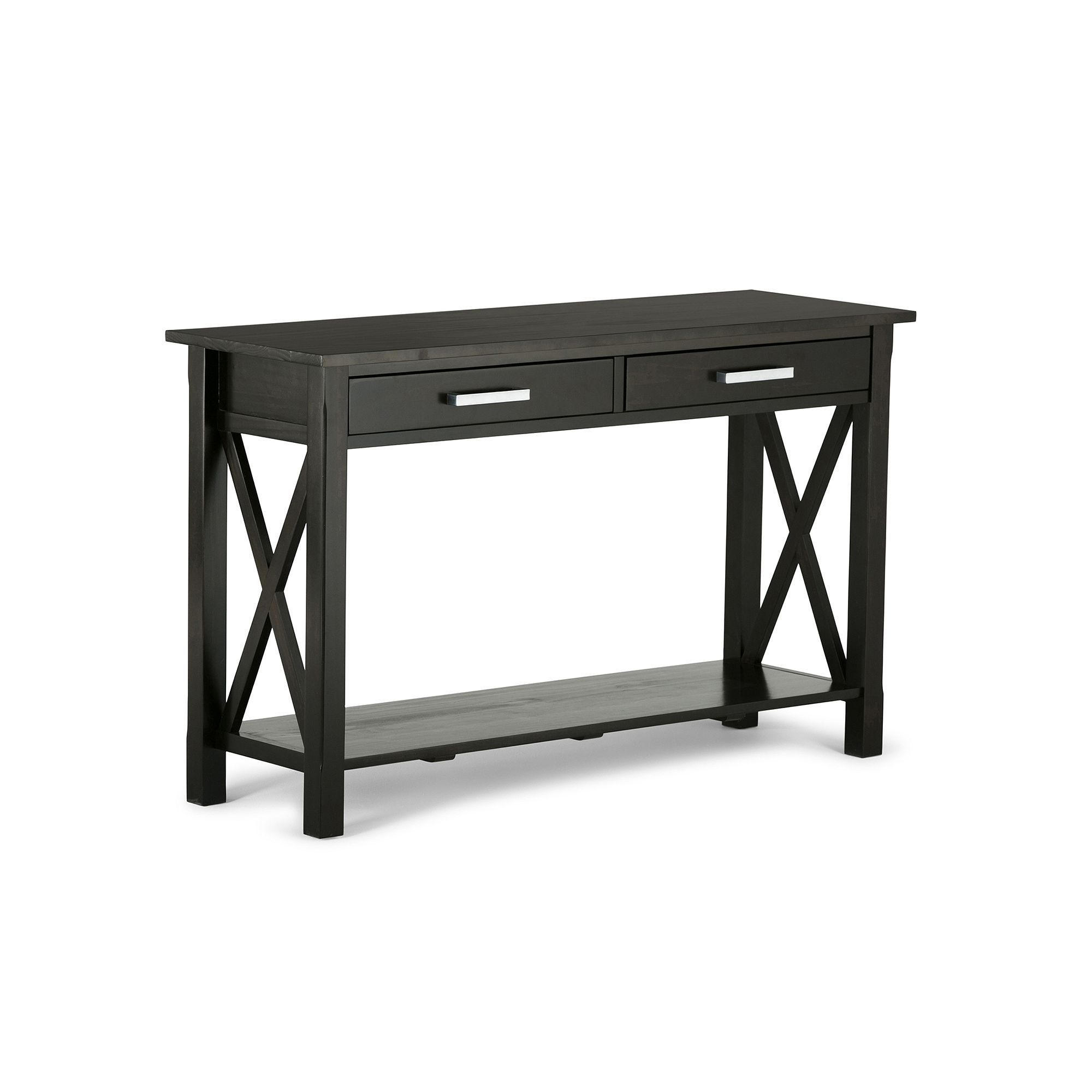 Simpli home kitchener console table brown console tables and products