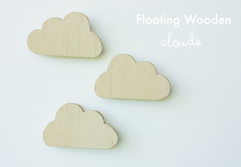 DIY Floating Wooden Clouds