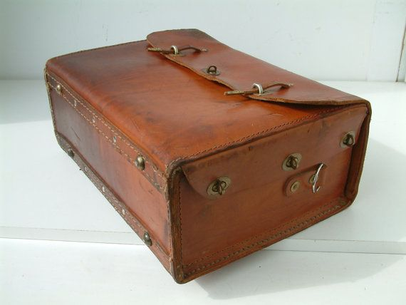 Vintage French Leather Electricians Tool Bag Electricians